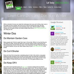 Winter Lawn Care Dos and Don'ts