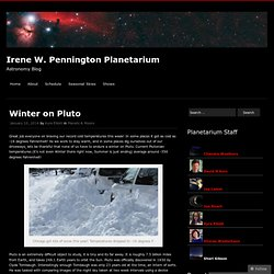 winter on pluto
