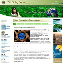 Winter Permaculture Design Course