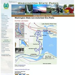 Lake Easton cross-country ski skiing map sno-park