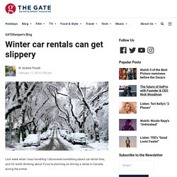 Winter car rentals can get slippery