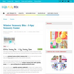 Winter Sensory Bin : I-Spy Sensory Game