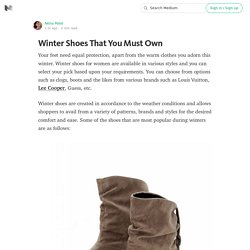 Winter Shoes That You Must Own