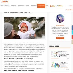 Winter shopping list for your baby: – Just dakhila