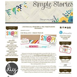 CHA Winter 2013 - SNEAK PEEK #5 - Simple Stories