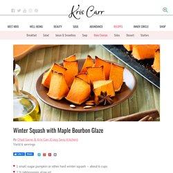 Winter Squash with Maple Bourbon Glaze