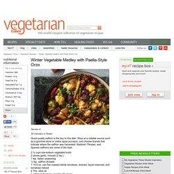 Vegan Winter Vegetable Paella-Style Orzo