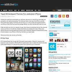 Top 6 Winterboard Themes For Jailbroken iPhone