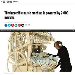 Wintergatan's 'Marble Machine' makes music with 2,000 marbles