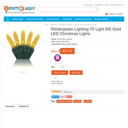 Buy online Latest Wintergreen Lighting 70 Light M5 Gold LED Christmas Lights on lightsdaddy.com
