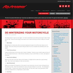 De-Winterizing Your Motorcycle - OEM windscreen replacements