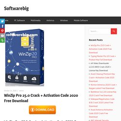 WinZip Crack + Activation Code 2020 Free Download