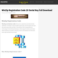 WinZipRegistrationCode 20SerialKeyFullDownload