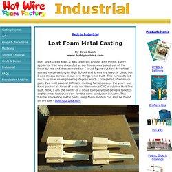 Hot Wire Foam Factory - Lost Foam Metal Casting