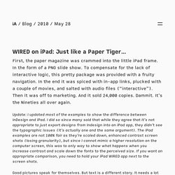 iA » WIRED on iPad: Just like a Paper Tiger…