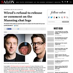 Wired's refusal to release or comment