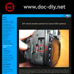 DIY wired remote control for Canon EOS cameras