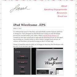 iPad Wireframe .EPS | Sarah Parmenter, a web and UI designer.