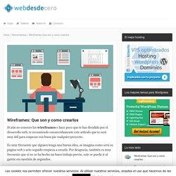 Wireframes: Que son y como crearlos
