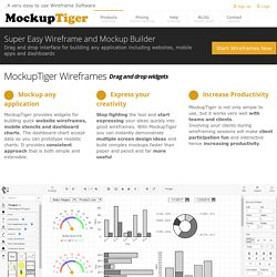 Wireframe and Mockups Software - Build Mockup , Wireframes and quick prototypes