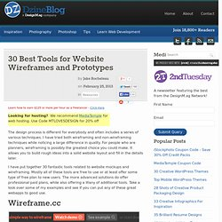 30 Best Tools for Website Wireframes and Prototypes