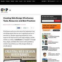 Creating Web Design Wireframes: Tools, Resources, and Best Practices