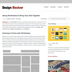 Using Wireframes to Bring Your Site Together