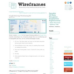 Google Drawings Wireframing Kit