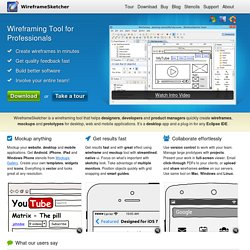 Wireframing tool for professionals - WireframeSketcher