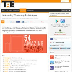 54 Amazing Wireframing Tools & Apps