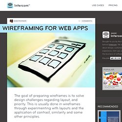 Wireframing for Web Apps