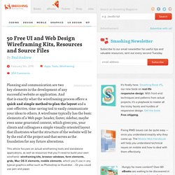 50 Free UI and Web Design Wireframing Kits, Resources and Source Files - Smashing Magazine