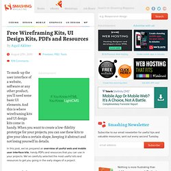 Free Wireframing Kits, UI Design Kits, PDFs and Resources - Smashing Magazine
