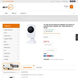 TP-LINK (NC220) Wireless 300Mbps Day/Night IP Surveillance Camera, Mic, CMOS Sensor 4 x Zoom