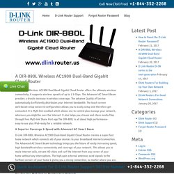 A DIR-880L Wireless AC1900 Dual-Band Gigabit Cloud Router