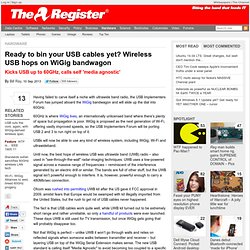 Ready to bin your USB cables yet? Wireless USB hops on WiGig bandwagon