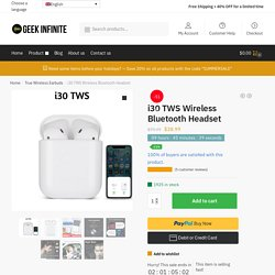 i30 TWS Wireless Bluetooth Headset - Geek Infinite