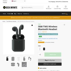 i500 TWS Wireless Bluetooth Headset - Geek Infinite