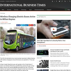 Wireless Charging Electric Buses Arrive in Milton Keynes