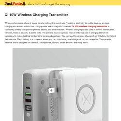QI 10W Wireless Charging Transmitter
