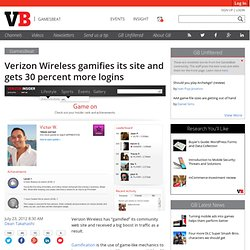 Verizon Wireless gamifies its site and gets 30 percent more logins