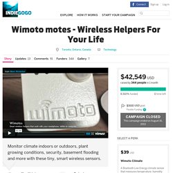 Wimoto motes - Wireless Helpers For Your Life