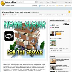 Wireless Home cloud for the crowd