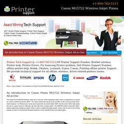 Canon Wireless Inkjet Pixma MG5722 - 800-760-5113 - Support