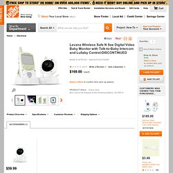 Wireless Safe N See Digital Video Baby Monitor with Talk-to-Baby Intercom & Lullaby Control-HDT6-501 at The Home Depot