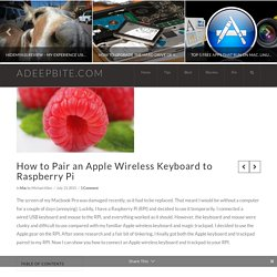 How to Pair an Apple Wireless Keyboard to Raspberry Pi