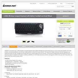 GKM681R - 2.4GHz Wireless Compact Keyboard with Optical Trackball and Scroll Wheel