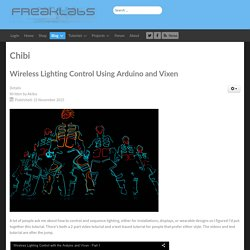 Wireless Lighting Control Using Arduino and Vixen