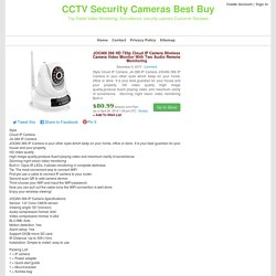 JOOAN 366 HD 720p Cloud IP Camera Wireless Camera Video Monitor With Two Audio Remote Monitoring
