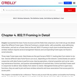 4. 802.11 Framing in Detail - 802.11 Wireless Networks: The Definitive Guide, 2nd Edition